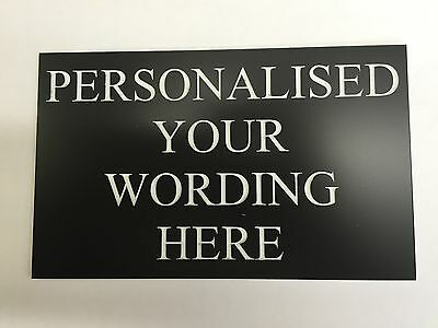 Custom Personalised Engraved Sign Diy Home Gate Post Door Plaque Office Factory