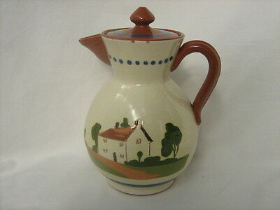 Watcombe Devon Motto Ware tea or coffee pot `To a friends house the road is ....