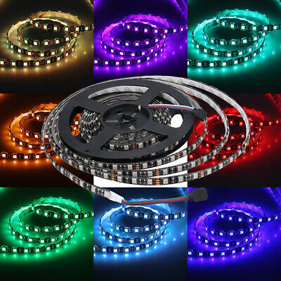 PCB Black 5M SMD 5050 RGB/White 300 LEDs Waterproof Flexible LED Strip Light