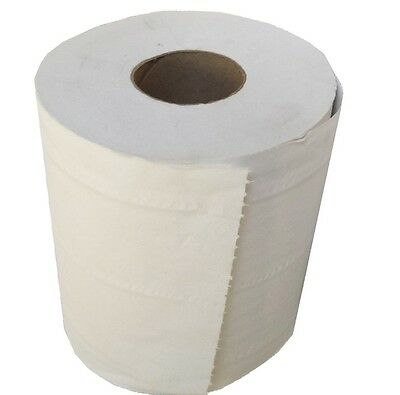Pack Of 12 White Mini Centre Feed Rolls Super Soft & Ultra Absorbent 60m x195mm