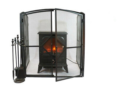 Fire Guard Screen Child Safety Baby Nursery Universal Stove Extend Guard Black
