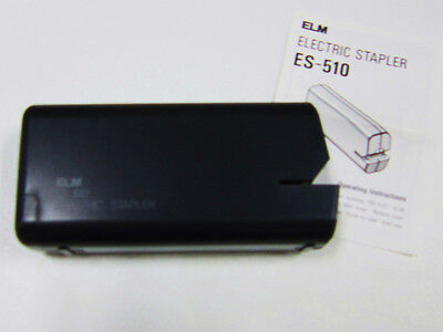 Elm Stapler ES-510 Black Battery Operated (Batteries not Included) 4 AA