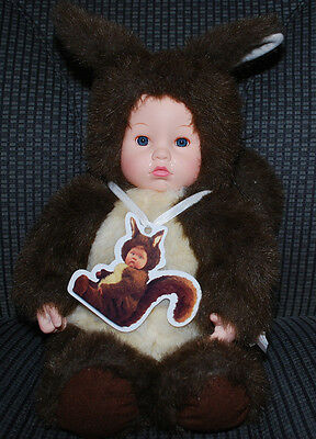 "Anne Geddes Squirrel Baby Doll 18"" Vintage 1998 The Especially Kids Company NWOT"