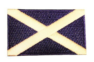 Scotland St. Andrew Cross Country Flag Iron-On Patch Crest Badge 1.5 X 2.5 Inch