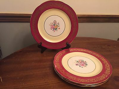 """KING"" by Hammersley Pattern #4168 ~ Set of 4 ~ Dinner Plates ~ 10 1/2"""