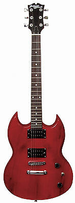 Johnny Brook SG Electric Guitar - Through Red