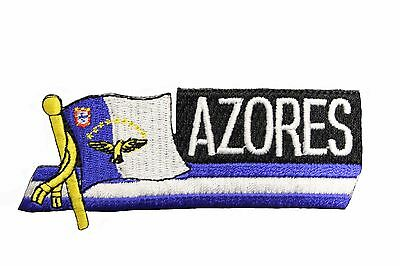 ARUBA SIDEKICK WORD COUNTRY FLAG IRON-ON PATCH CREST BADGE 1.5 X 4.5 IN.