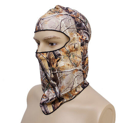 Motorcycle Hunting Full Face Mask Snood Head Hood Protector UV Cap Hat Camo