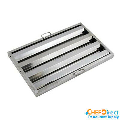 """Box of 6 Hood Filter/Grease Baffle 16""""W x 25""""H Stainless Steel Commercial Range"""