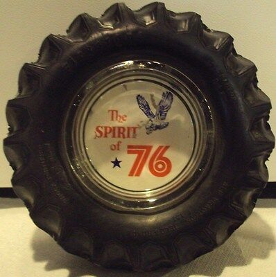 Vintage Firestone Tire Ashtray With Glass Insert