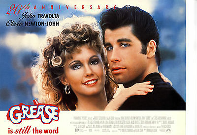 GREASE 1978 Original cinema mini poster 20th Anniversary Travolta musical