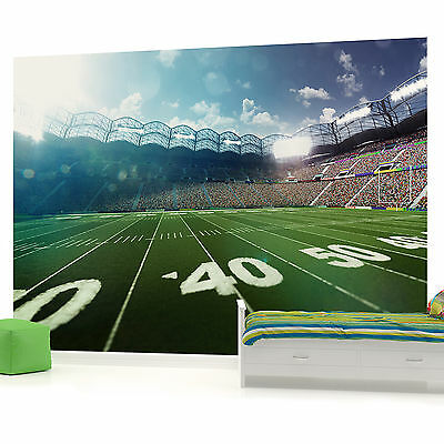 American Football Boys Bedroom PHOTO WALLPAPER PICTURE WALL MURAL W1198VE VE