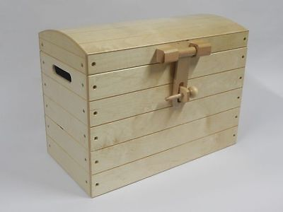 Wooden Trunk Chest Storage Toy Box Furniture Wood Ottoman Basket Raw no painted