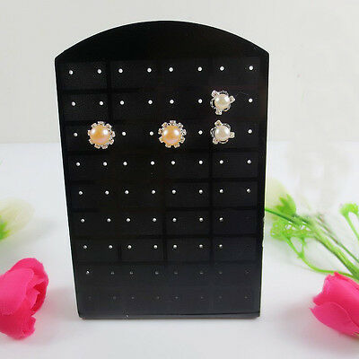 72 Holes Earrings Jewelry Show Plastic Display Stand Organizer Holder Showcase