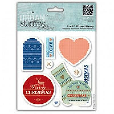 PAPERMANIA URBAN STAMPS IN THE COUNTRY FAIR ISLE 4 X 14.5CM X 2CM
