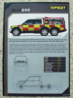 SUPACAT SUV 600 Land Rover Discovery 4x4 Emergency Vehicle Spec Leaflet 2013