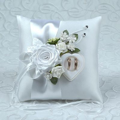 wedding ring cushion pillow with rings holder box.! 30 color