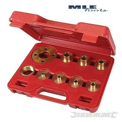 Silverline Guide Bush Set 10pce cutter woodwork joinery router plate 245122