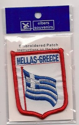 Embroidered Souvenir Patch - Country Of Greece