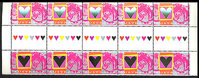 1986 Australia - Hearts & Roses - Gutter Strip Of 10 - Muh - J29