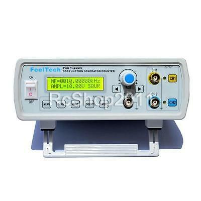 2MHz Dual Channel DDS Function Signal Generator Wave Sweep & Counter UK SHIP