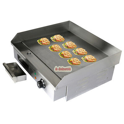 Commercial Stainless Steel Electric Griddle Flat Hotplate Grill BBQ EU Plug