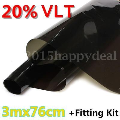 Olive Green 20% VLT Car Home Office Window Glass Tint Film Tinting Limo 3m x76cm