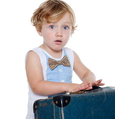 NEW Blue bow tie vest Boy's by Arthur Ave