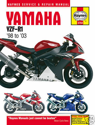 Haynes Yamaha R1 YZF-R1 1998 - 2003 Manuale Officina 3754 NUOVO