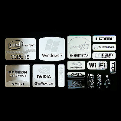 Intel Core i5 Logo Metal Decal Sticker NVIDIA Radeon Energy star (combo Type B)