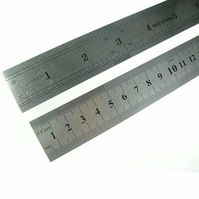 Metal Metre Ruler. 100cm  with imperial and metric scale.