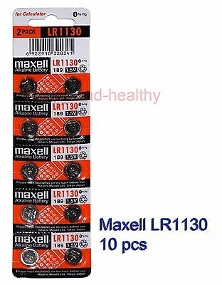 Maxell  LR1130 (189 AG10) 0% Hg Alkaline watch Battery x 10 pcs FREE post