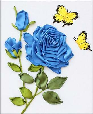 Ribbon Embroidery Kit Blue enchantress Louis XIV Cardinal Rose RE1060A