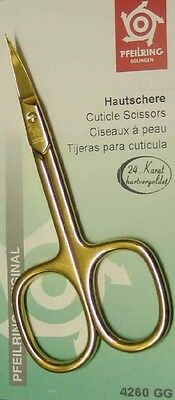 Pfeilring 4260GG Cuticle Scissors 24 Carat Hard Gold-Plated 90mm