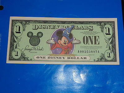 2001 $1 Disney Dollar featuring Mickey - A Series  Mint Condition