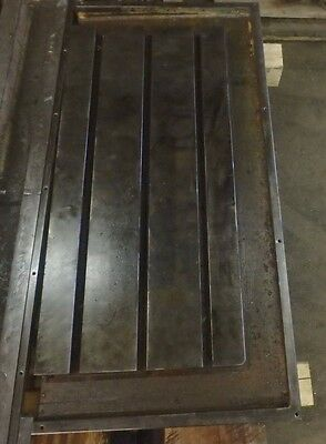 "41.25"" x 19.75"" x 5.5"" T-SLOTTED STEEL TABLE Cast Iron T-Slot_JIG_WELD"