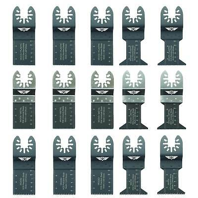 15 x Mix Blades for Dewalt Stanley Black and Decker Bosch Multitool Multi Tool