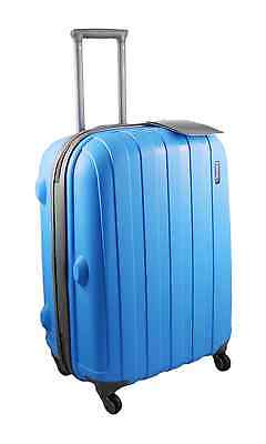 "Luggage X Blue Hard Shell Suitcase Medium 26"" ( 66cm ) 4 Spinner Wheels TSA Lock"