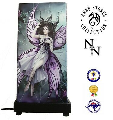 New Anne Stokes 'silk Lure' Bedside Mood Table Lamp ~ Fairies Gothic Fantasy