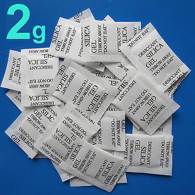 50 packs Dry pack 2 Gram 2g Silica Gel Packets Desiccants desiccant Drypack!