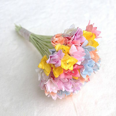 50 Assorted Pastel Colors Mini Gypso, Gypsophila Mulberry paper flowers
