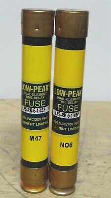 BUSSMANN * LPS-RK-6-1/4SP * Low Peak Time Delay Fuse * LOT OF 2 *NEW*