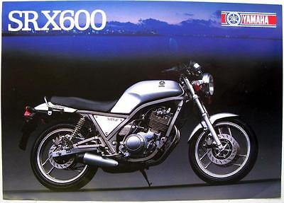 YAMAHA SRX600 - Motorcycle Sales Sales Sheet - 1986 - LIT-3MC-0107891-86E