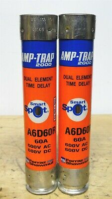 FERRAZ SHAWMUT AMP-TRAP2000 Dual Element Time Delay A6D60R Fuse (LOT OF 2) *NEW*