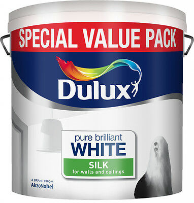 Dulux 6L Pure Brilliant White Silk Emulsion For Walls And Ceilings