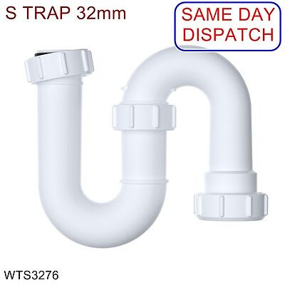 WTS3276 VIVA 32mm EASI-FLO Swivel S Trap with 75mm Seal *BRAND NEW* *CHEAPEST*