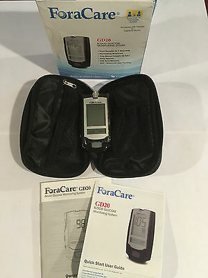 ForaCare GD20 Blood Glucose Monitoring System Kit NDC16042-0010-17