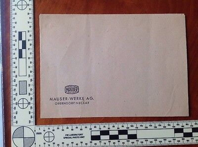 Mauser Werke, Oberndorf, Germany Letterhead - Four Pieces, Free USA Shipping