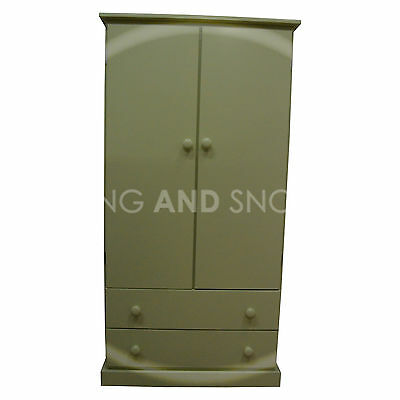 Hand Made Kiddies Furniture 2 Drawer Wardrobe Apple Green(Assembled)