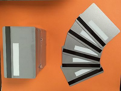 1000 Silver PVC Cards-HiCo Mag Stripe 2 Track - CR80 with signature panel